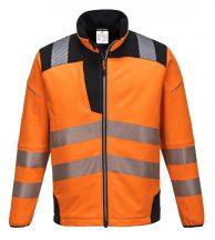 T402 - Vision Hi-Vis softshell kabát - narancs / fekete