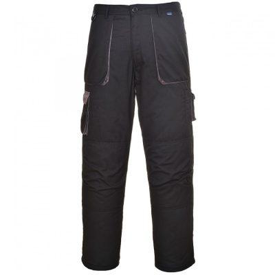 Portwest TX16 Texo Contrast bélelt nadrág (FEKETE XL)