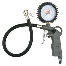 Gumiabroncs felfújó pisztoly nyomásmérő órával