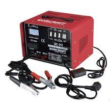 Worcraft BC-215 töltő, 12V / 24 / 230V, 40A, akkumulátorra