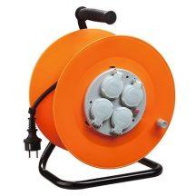 SP+ CR038 elosztó, 4 aljzat, L-50 m, IP44, gumi, hosszabbító, dob