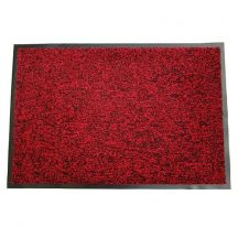 Lábtörlő MagicHome CPM 303 40x60 cm, fekete/piros