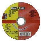 Vágókorong flexOvit 20423 125x1,0 A60R-BF41 acél, nemesacél