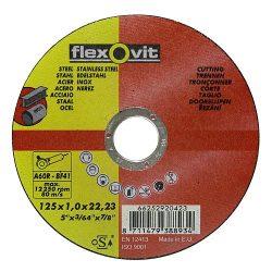 Flexovit vágókorong 180x1,6 A46R-BF41 acél, rozsdamentes acél