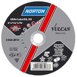 NORTON Vulcan A vágókorong 230x6, 4x22 A30S-BF41, Acél-Inox