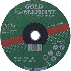 Vágókorong Gold Elephant 41AA 115x1,0x22,2 mm, acél, inox, A46TBF