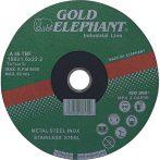 Vágókorong Gold Elephant 41AA 115x1,6x22,2 mm, acél, inox, A46TBF