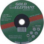 Vágókorong Gold Elephant 41AA 125x1,6x22,2 mm, acél, inox, A46TBF