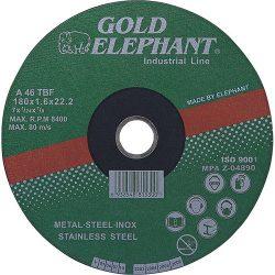 Vágókorong Gold Elephant 41AA 230x1,9x22,2 mm, acél, inox, A46TBF