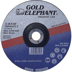 Vágókorong Gold Elephant 27A T27 180x6,0x22,2 mm, acél
