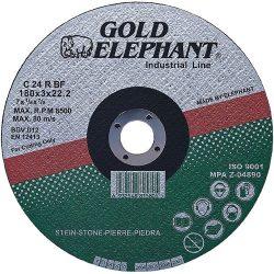 Vágókorong Gold Elephant 42C T42 180x2,5x22,2 mm, kőre