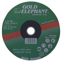 Gold Elephant 41AA vágókorong 125x1,0x22,2 mm, acél, rozsdamentes acél, A46TBF
