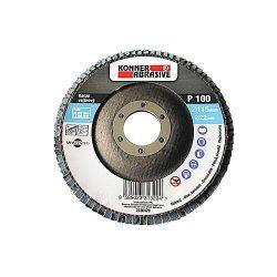 KONER 260 csiszolókorong 115x22 mm, A120, cirkónium, fogazott, rozsdamentes acél