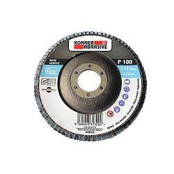 KONER 260 csiszolókorong 150x22 mm, A120, cirkónium, fogazott, rozsdamentes acél
