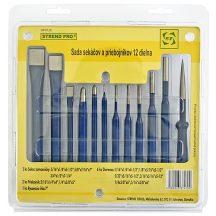Készlet 12 db 3x lakatos véső 2x kiütő 1x rajzolótű 6x lyukasztó