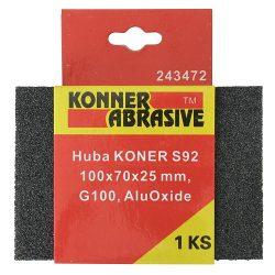 Csiszolószivacs KONER S92 100x70x25 mm, G120, AluOxide