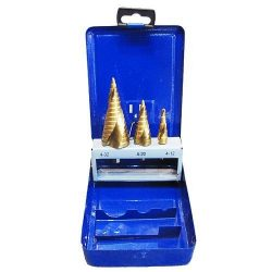 STRAD PRO SS422, 4-12, 4-20, 4-32 mm, TiN, HSS 4241 lépcsős, spirál fúró