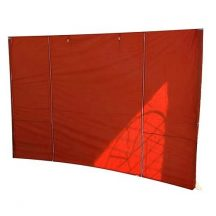 MONTGOMERY oldalfal sátorhoz, 300x300 cm, piros