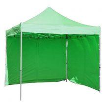 Stan FESTIVAL rendezvénysátor, kerti sátor 3x3 m, zöld, professzionális, UV-ellenálló ponyva, fal nélkül