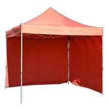Stan FESTIVAL rendezvénysátor, kerti sátor 3x3 m, piros, professzionális, UV-ellenálló gumiabroncs, fal nélkül
